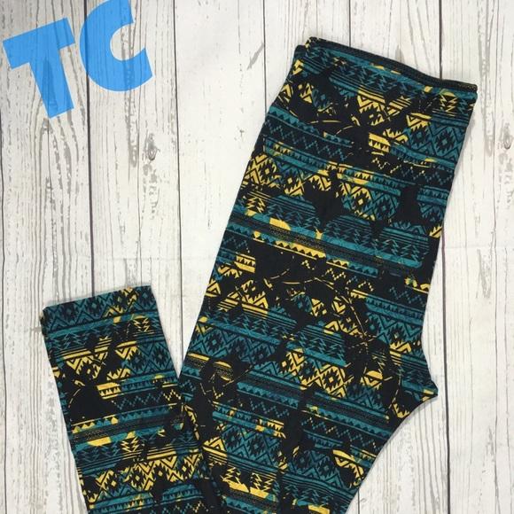 LuLaRoe Pants - LuLaRoe Leggings Tc Print Aztec